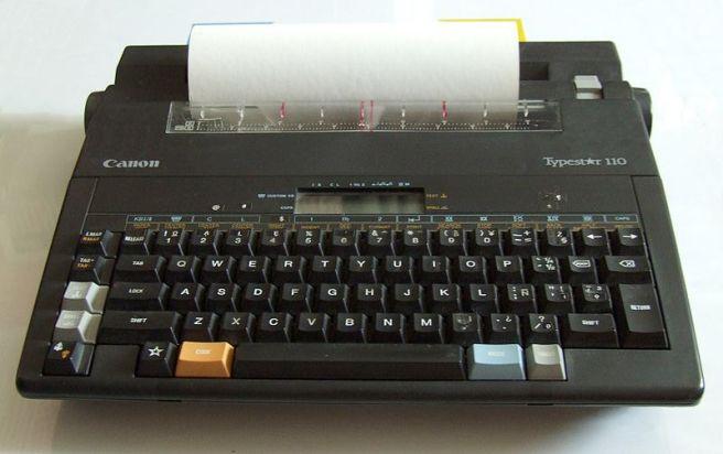 Canon Typestar 110 typewriter